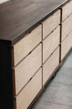 Concealed hand slots on drawers love wood )) кухонная мебель Wood Furniture, Furniture Design, Office Furniture, Dressing Design, Joinery Details, Cabinet Handles, Door Handles, Furniture Inspiration, Design Inspiration