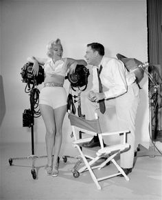 "Marilyn Monroe and Tom Ewell posing in the studio. ""Seven Year Itch"" 1955"