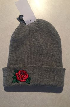 Rose Patch Beanie - Mercari: BUY & SELL THINGS YOU LOVE