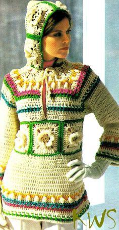 Crochet Patterns Hoodie Vintage Crochet Hoodie Hooded Pullover by KinsieWoolShop {Updated} Crochet Jacket Pattern, Crochet Hoodie, Crochet Beanie Hat, Crochet Patterns, Crochet Hats, Crochet Sweaters, Cute Crochet, Vintage Crochet, Crochet Top
