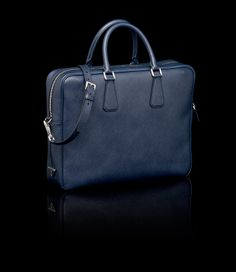 Finally got it. Navy blue briefcase from Prada