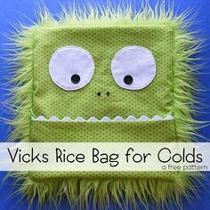 Sewing Make a soothing Vicks Vaporub scented rice bag to ease a cough and stuffy nose without having to rub on the sticky stuff. - Make a soothing Vicks Vaporub scented rice bag to ease a cough and stuffy nose without having to rub on the sticky stuff. Sewing Hacks, Sewing Tutorials, Sewing Patterns, Sewing Tips, Sewing Ideas, Embroidery Patterns, Bag Tutorials, Purse Patterns, Free Sewing