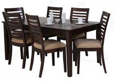 Juego de comedor para 6 personas, modelo OSCAR , Commodity, mesa rectangular de madera, sillas de madera, color café, estilo Clásico.Mesa:       Alto: 74.5 cm      Largo: 160 cm      Ancho: 95.5 cm   Sillas:       Alto: 95 cm      Largo: 41 cm      Ancho: 45 cm #LaCuracaoCR