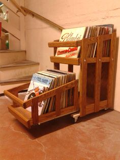Vinyl Record storage. I'm gonna get on building one of these for myself...