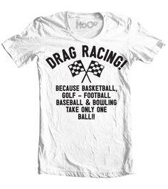 bade1b7cb Women's HoO High on Octane Drag Racing Because T-Shirt (Color Options) Drag