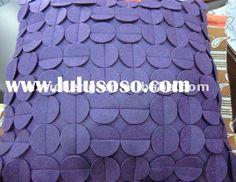 Decorative Circle Pillow Patchwork Appliqué, Different Colors
