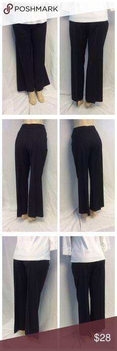 "CASUAL CORNER Pin Stripe Pants CASUAL CORNER Pin Stripe Pants, Size 10, 82% wool, 14% polyester, 4% spandex, dry clean. 16 1/2"" waist laying flat, 31"" inseam, 41 1/2"" waist to hem, 11"" waist to crotch, 4 1/2"" zipper. 0142 Casual Corner Pants"