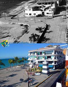 Malecon Hotel Oceano Photos comparing Puerto Vallarta of the past with the Puerto Vallarta of the present. http://www.puertovallarta.net/gallery/puerto-vallarta-historical-comparisons.php  Fotos que comparan el pasado de la ciudad con el presente. http://www.puertovallarta.net/espanol/galeria/comparaciones-historicas.php  #puertovallarta #vallarta #antesydespues #beforeandafter