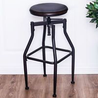 Whalen Brown 28 In Adjustable Kitchen Stool At Lowe S On