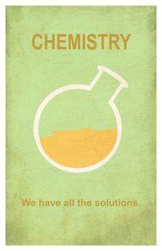 Chemistry: We have all the solutions. // poster print by EskimoChateau - Please…