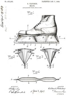 ice skate patent - Google Search