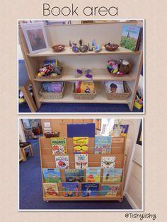From Tishylishy Book area (summer term) Classroom Layout, Classroom Displays, Preschool Classroom, Classroom Ideas, Preschool Library, Preschool Centers, Daycare Organization, Classroom Organisation, Book Corner Eyfs