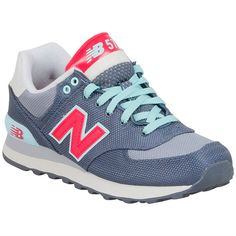 New Balance Women's Women's 574 Winter Harbor Sneaker ($80) ❤ liked on Polyvore featuring shoes, sneakers, grey, lacing sneakers, new balance footwear, color block shoes, laced up shoes and new balance sneakers