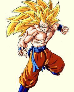 Super Saiyan 3 Goku Full Power Dragon Ball Z Episode Dragon Ball Z, Dragon Ball Image, Ssj3, Ball Drawing, Goku Super, Super Saiyan Goku, Dbz Characters, Animes Wallpapers, Illustrations