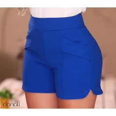 Would love to try some high-waisted shorts. Casual Wear, Casual Outfits, Cute Outfits, Fashion Outfits, Womens Fashion, Bermudas Fashion, Short Outfits, Summer Outfits, Chor