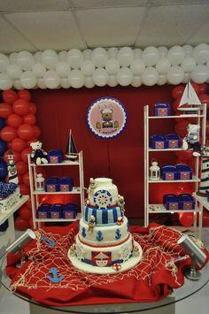 "Photo 1 of 11: Sailor Bear / Birthday ""Ian First Birthday"" | Catch My Party"