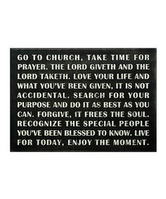 Take a look at this Black 'Go to Church' Box Sign by Primitives by Kathy on #zulily today!