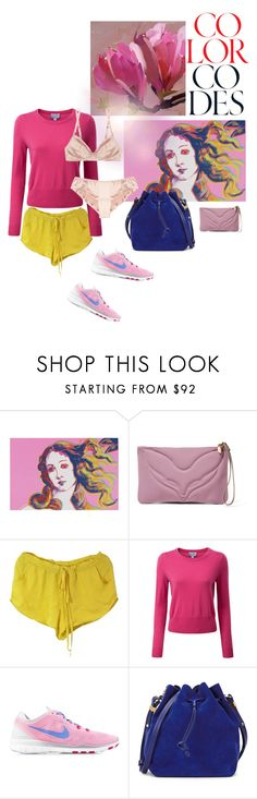"""""""Untitled #747"""" by krahmmm ❤ liked on Polyvore featuring Andy Warhol, M Missoni, Mason's, Carine Gilson, NIKE and Sophie Hulme"""