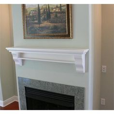 Mantel Shelf Design 143w In Poplar Painted White By Mantel Arts Group On Homeportfolio Fireplace Mantel Shelf Mantel Shelf White Fireplace Mantels