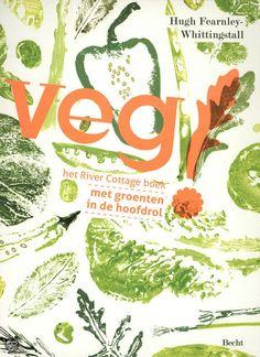 Veg! - Hugh Fearnley-Whittingstall (2012). met groenten in de hoofdrol. De auteur is presentator van het programma 'River Cottage' en enthousiast aanhanger van biologische seizoensproducten. Hij heeft al zeven andere River Cottageboeken geschreven, maar in 'Veg!' neemt hij ons mee naar de smaakvolle wereld van eten zonder vis of vlees. De prachtige sfeerfoto's en illustraties maken dit boek tot de nieuwe favoriet in vegaland. In mijn bezit sinds april 2013.