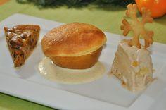 Dessert für das Weihnachtsmenü: Tarte von gebrannten Mandeln, Spekulatiusparfait, Soufflierter Bratapfel   Die weiteren, dazugehörenden Gänge und die jeweilige Weinempfehlung sind im Beitrag verlinkt.