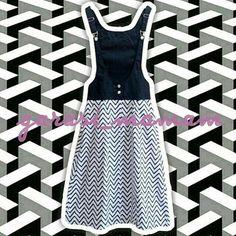 Celine Overall Skirt - Mix White Chevron seharga Rp185.000. Dapatkan produk ini hanya di Shopee! {{product_link}} #ShopeeID