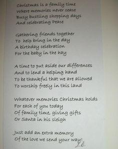 my Christmas card poem I wrote - Susan DiSessa