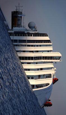 The Costa Concordia, photo by Filippo Monteforte