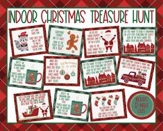 Indoor Christmas Treasure Hunt Indoor Christmas Scavenger | Etsy Christmas Activities For Kids, Christmas Party Games, Teacher Christmas Gifts, 12 Days Of Christmas, Perfect Christmas Gifts, Outdoor Christmas, Kids Christmas, Christmas Crafts, Xmas Party