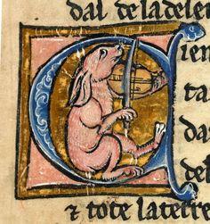 manuscriptjourneys:  Recueil de Romans de la Table Ronde - Lancelot du Lac - Lièvre musicien Digitised in  Les Tablettes rennaises  -  Bibli...