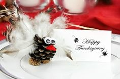 Place cards can help dress up your holiday table and make your guests feel welcome at the same time. They also   take the guess work out of seating, which can be a lifesaver if you're hosting a large crowd or having a lot of people over who don't know each other.