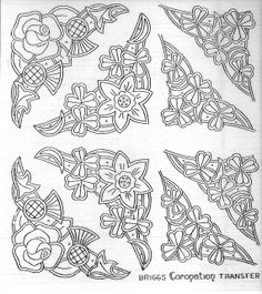 would make good patterns for tape lace