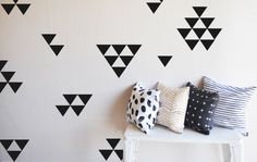 Medium Solid  Triangles  - WALL DECAL