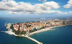 Bulgaria tourism in the Black Sea resort of Pomorie