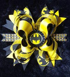 Batman Hair Bow Clip