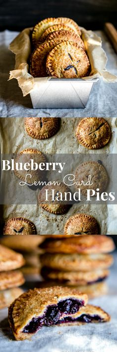 Prep ahead, assemble and bake later. Blueberry Lemon Curd Hand Pies served with a scoop of vanilla bean ice cream or tucked into your love's lunchbox. Vegetarian Recipes | Baking Recipes | Summer Baking Recipes