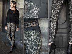 Similar 5 tasche skinny in versione raffinata davanti elegante pizzo, retro e dettagli in raso #pant #details #lace