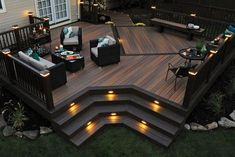 Are you in search of something outstanding that will transform the useless entrance into a luxurious place of your house, then opt the given plan. This stylish #patio look is given to this outdoor after the styling of a multi-level wooden deck where the integrated lights, built-in benches, and appealing furniture usage is turning the whole environment to breathe.