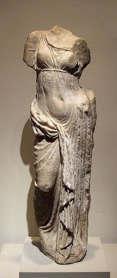 #mnur - Marble Statue of Aphrodite in the Metropolitan Museum of Art - Greek, Hellenistic, 2nd century BC #Statues