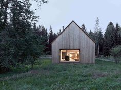 Haus am Moor is a minimalist house located in Krumbach, Austria, designed by Bernardo Bader Architects. Within the private forest of Schwarzenberg, the wood was selected, felled, cut, and installed. An overall of 60 spruces, firs and elms were used for construction panels, doors, floor structure and floor boards. (2)