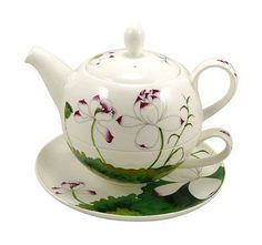 TeaLogic Tea For One Set Lotus Fine Bone China Porzellan Tea4One