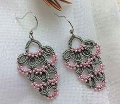 Tatting Earrings, Tatting Jewelry, Lace Earrings, Lace Jewelry, Crochet Earrings, Crochet Jewelry Patterns, Tatting Patterns, Crochet Accessories, Needle Tatting