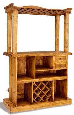 Estilo colonial acacia muebles macizos madera maciza - Barra bar salon ...