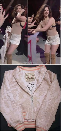 March 29, 2018: Lana Del Rey gave her autographed jacket to a lucky fan at her show in Brisbane, Australia #LDR #LA_to_the_Moon_Tour