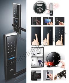 khoá cửa điện tử samsung cao cấp nhiều tính năng bảo mật và chống chộm