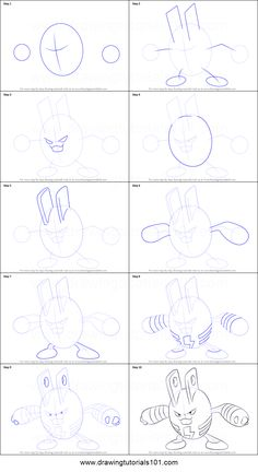 ** done ** . . How to Draw Elekid from Pokemon printable step by step drawing sheet : DrawingTutorials101.com