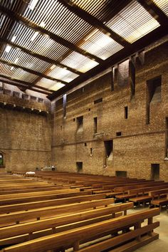 St Bride's Church, East Kilbride, Scotland by Gillespie, Kidd & Coia, 1962.
