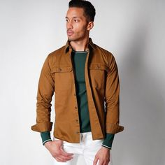 rust jacket - engagement outfits Engagement Photo Outfits, Engagement Photos, Casual Shirts For Men, Men Casual, Stylish Suit, Work Wear, What To Wear, Bomber Jacket, Fitness