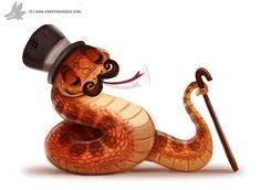 Daily Painting 902# Fancy Serpent by Cryptid-Creations.deviantart.com on @DeviantArt