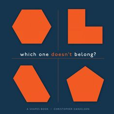 Which One Doesn't Belong all began with this book! Check it out! #wodb #math